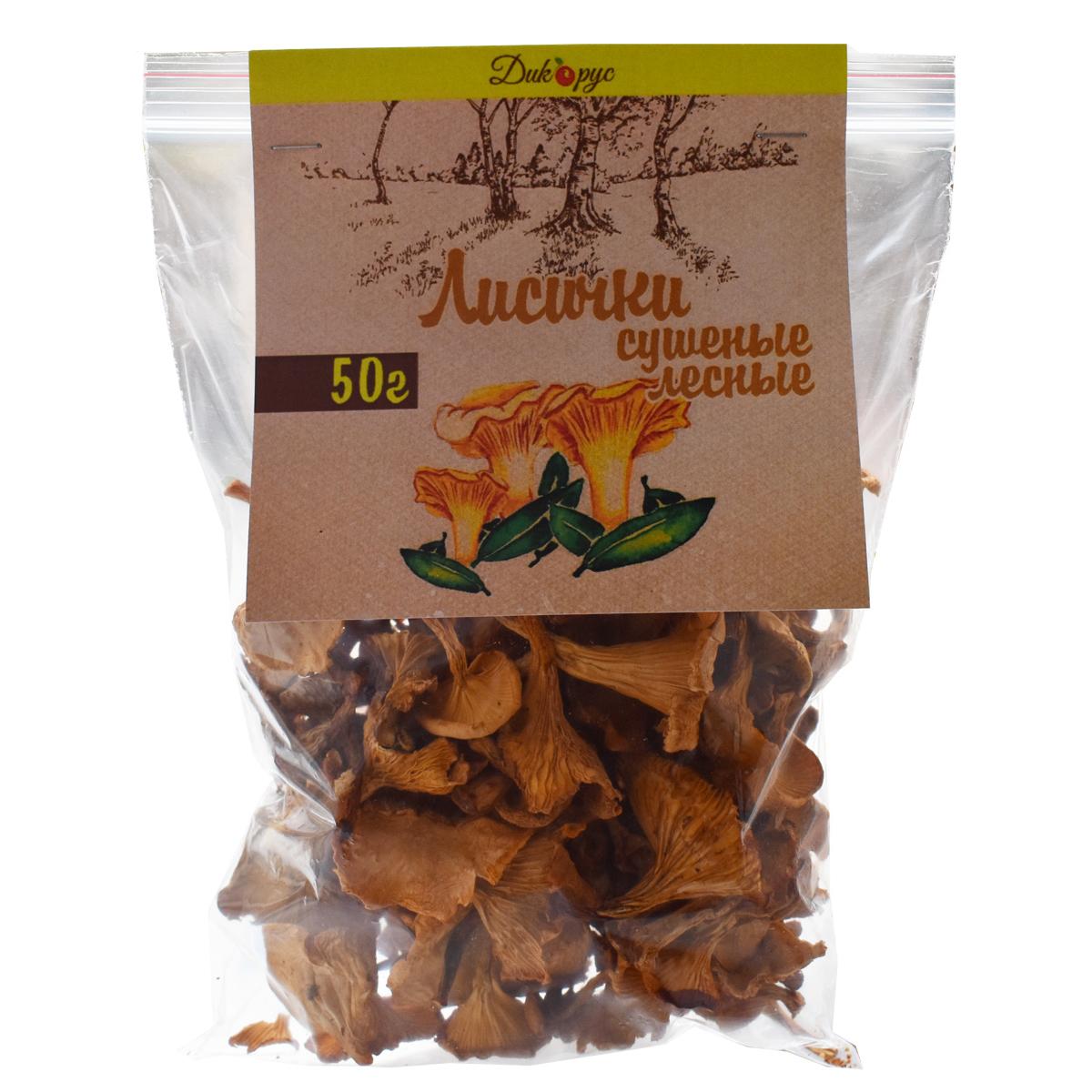 Сушеные лисички 50 гр ( Дикорус)